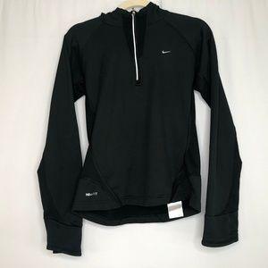 Nike Fit Dri Black Partial Zip Hoodie Women's S